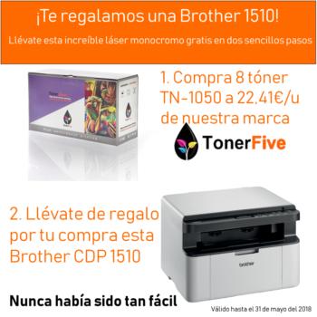 ¡Te regalamos una impresora monocromo Brother CDP 1510!